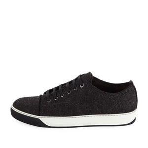 Lanvin Virgin Wool Low-Top Sneakers